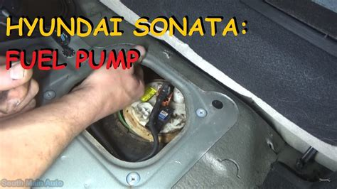 hyundai sonata fuel pump youtube