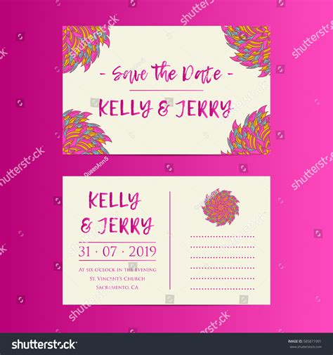 wedding invitation design layout vintage template design layout wedding invitation stock