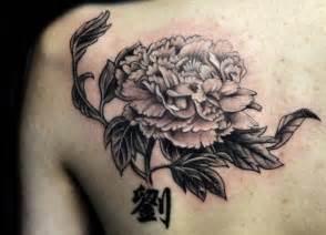 back shoulder chrysanthemum flower tattoo chronic ink