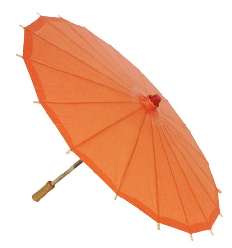 Paper Umbrella - 34inch paper parasol umbrella orange