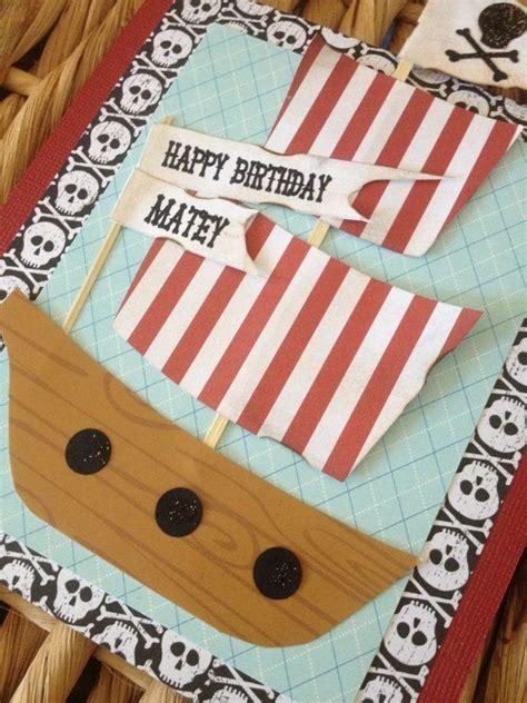 Pirate Birthday Card Pirate Birthday Card Pirate Ship Birthday Card Party