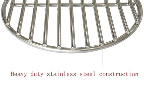 stainless steel fireplace grate 5 6 inch 304 stainless steel high heat charcoal grate