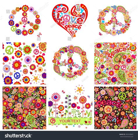 imagenes hippies vector hippie backgrounds and design elements stock vector