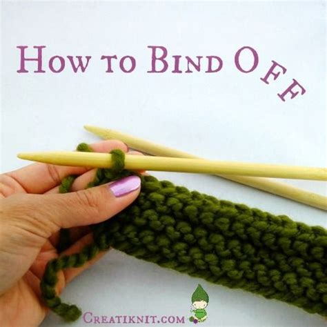 how do you end a knitting project how to bind knitting tuttorial