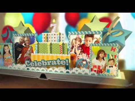 after effect birthday template happy birthday pop up book videohive templates after