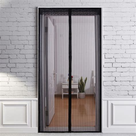door mosquito curtain 100 x 210cm magnetic mesh tulle screen door mosquito net