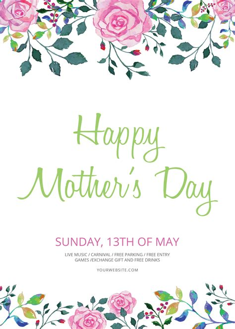 Mothers Day Cards Templates Microsoft Word by Free S Day Flyer Template In Adobe Photoshop