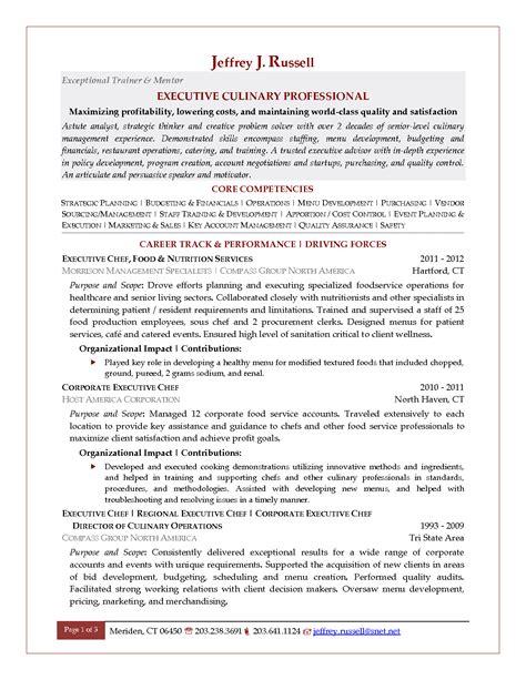 Banquet Chef Description by Executive Sous Chef Resume Ilivearticles Info