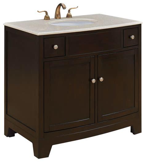 Tropical Bathroom Vanities Clarion 36 Quot Single Bathroom Vanity Set Brown Tropical Bathroom Vanities And Sink
