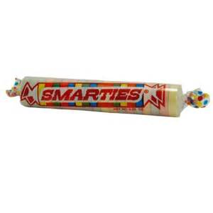Smarties candy large hard candy