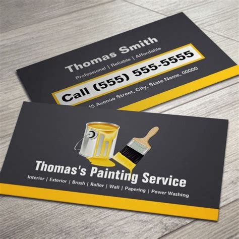 painter business card template professional painting service painter paint brush business