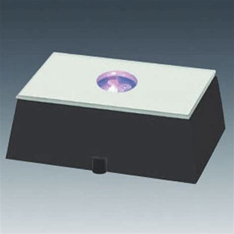 Rectangular L Base by Black Rectangle Led Light Base 2 In X 2 In Plastic