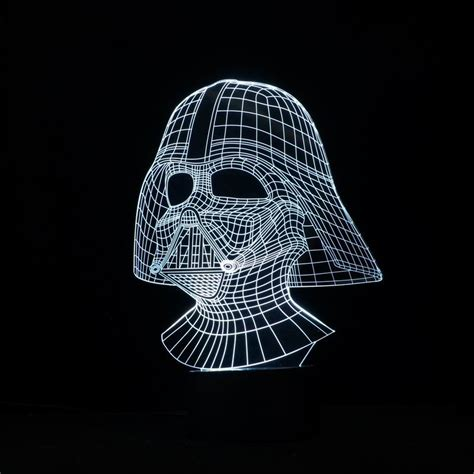 3d illusion l cool and handsome wars darth vader shape 3d illusion
