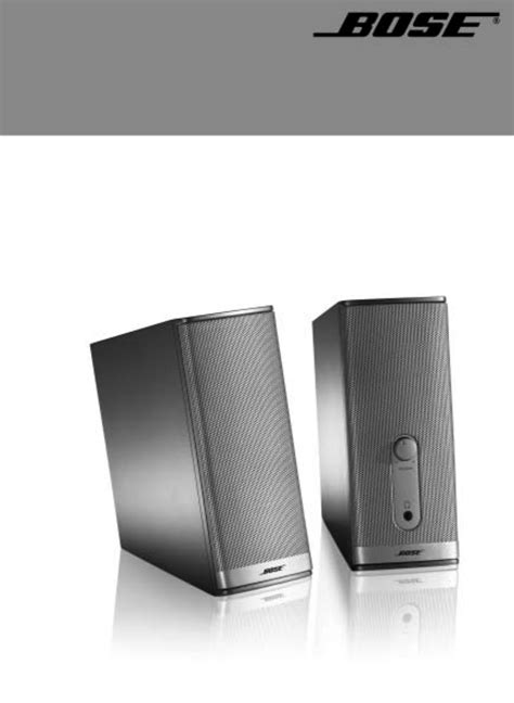 Speaker Bose Companion bose companion 2 speakers user manual