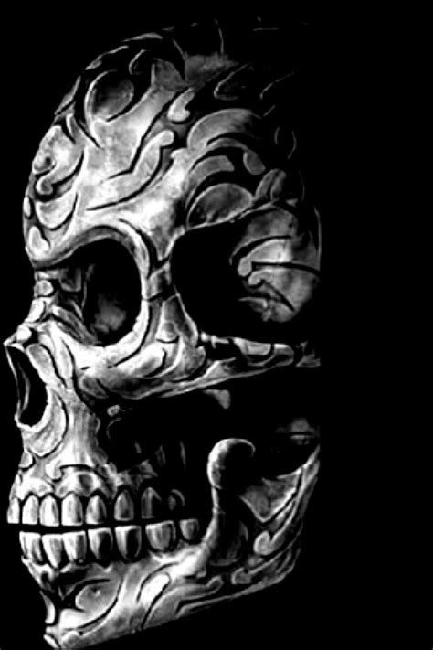 skull wallpaper for iphone wallpapersafari