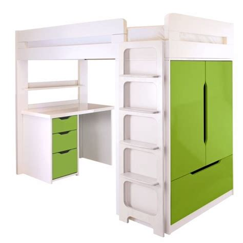 childrens aspace bed room set high sleeper  desk chest  drawers storage unit bookshelf