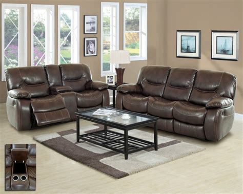 brown bonded leather sofa set casual living room furniture harvey casual motion brown bonded leather living room set