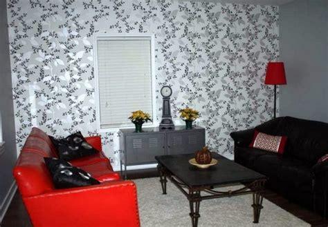 contoh wallpaper garis contoh wallpaper dinding ruang tamu sempit nirwana deco