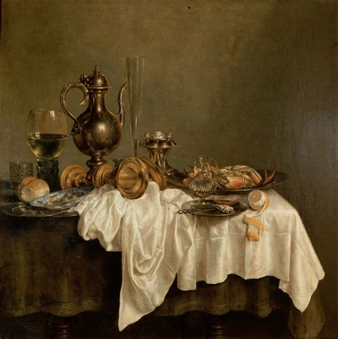 biography of a fine artist fine art images willem claesz heda breakfast with a