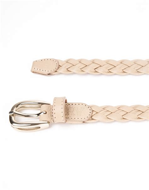 colored braided leather belt roberto verino