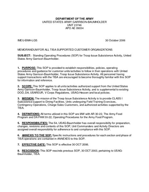 supply sop template navy standard operating procedure template pictures to pin