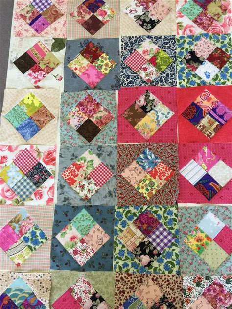 Economy Block Quilt by Antique Four Patch Economy Block Tutorial Quilts And
