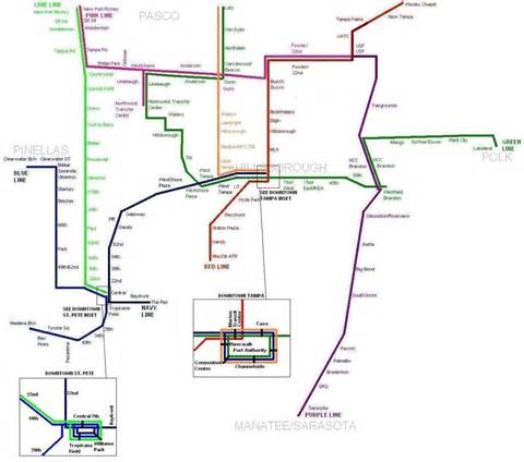 trains in florida map transit maps highway railroad major florida
