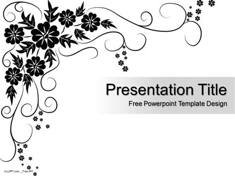 template design pattern black floral pattern powerpoint template design daily
