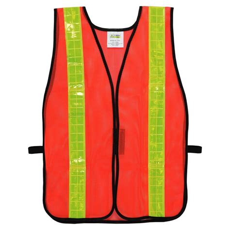 Yellow Home Decor Fabric by Cordova High Visibility Orange Mesh Safety Vest One Size