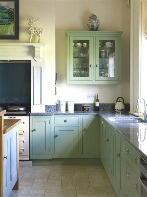 traditional kitchen  breakfast room green  dix blue