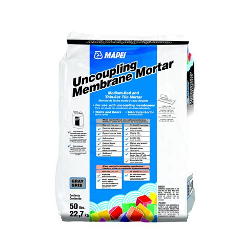 medium bed mortar shop mapei uncoupling membrane 50 lb gray powder medium