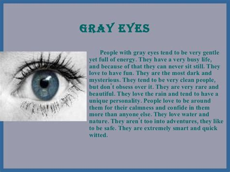 what does the color gray what does your eye color say about you