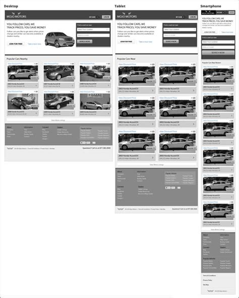 wireframes magazine 187 responsive layout wireframe mojo motors responsive redesign with fireworks ux and
