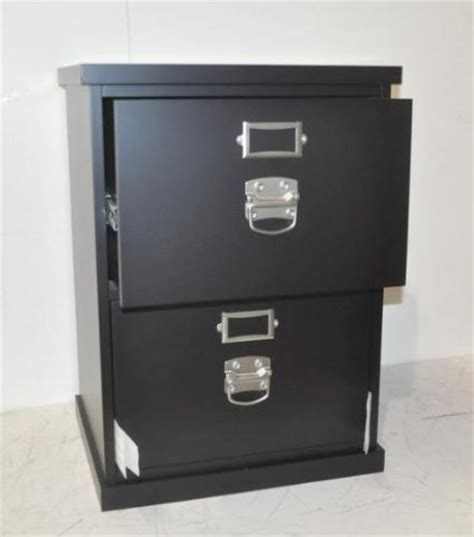 pottery barn bedford 2 drawer file cabinet black new ebay