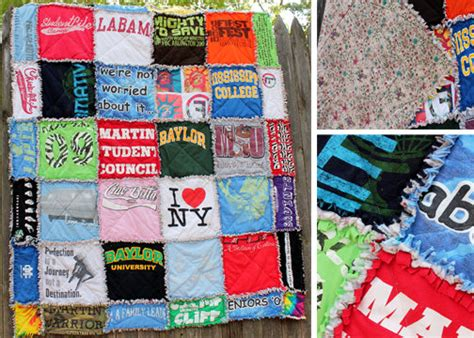 Handmade T Shirt Quilts - items similar to custom t shirt rag quilt on etsy