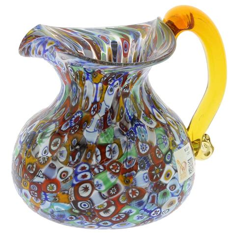 Handmade Glass Vases Murano Glass Vases Murano Glass Millefiori Pitcher Carafe