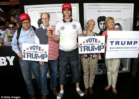 sacha baron cohen characters sacha baron cohen as nobby endorses donald trump for
