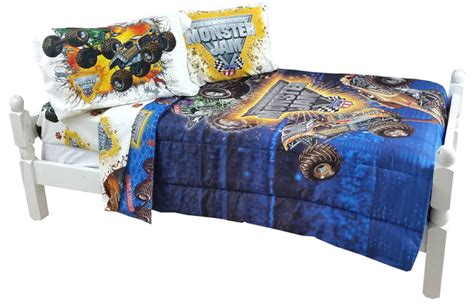 monster truck bedroom decor monster jam bedding set truck destruction comforter sheets