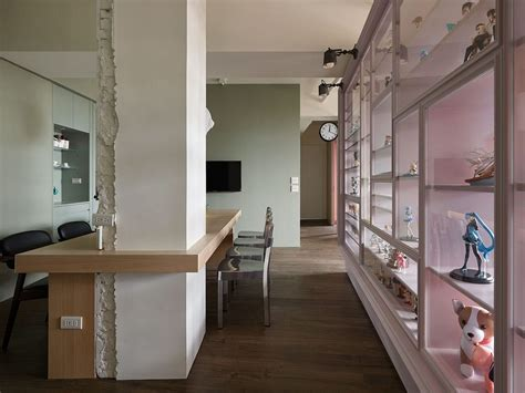 appartment add fashion designer s hub in taiwan relies on smart shelving