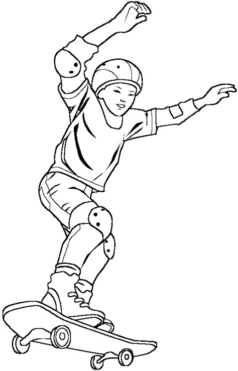 Skateboard Coloring Pages Coloringpagesabc Com Skateboard Coloring Pages