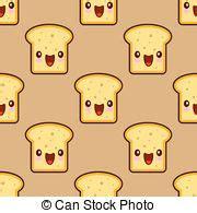 imagenes de tostadas kawaii kawaii rebanada caricatura bread kawaii face