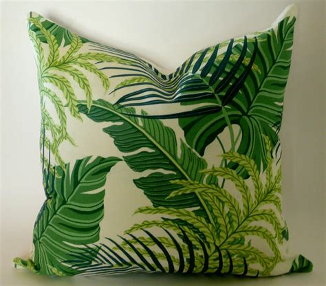 Palm Leaf Pillow by Palm Leaf Pillow Cover In Green By Westendaccents On Etsy