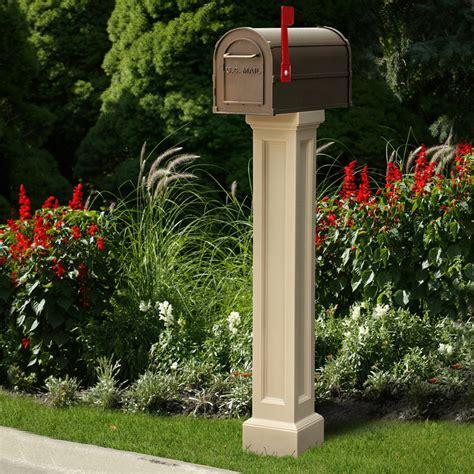 mayne bradford vinyl mailbox post pkg
