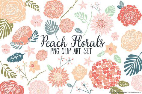 floral clip floral clipart flower clip illustrations