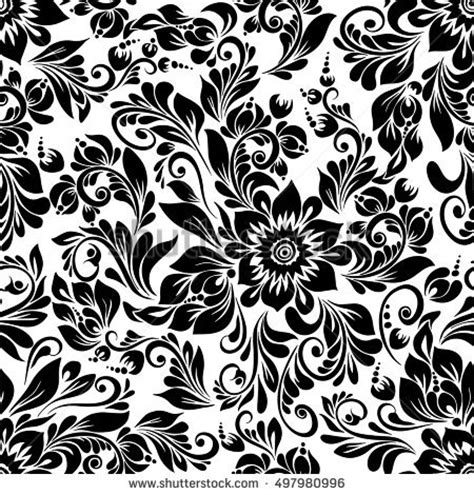 flower pattern black and white vector black and white flowers stock images royalty free images