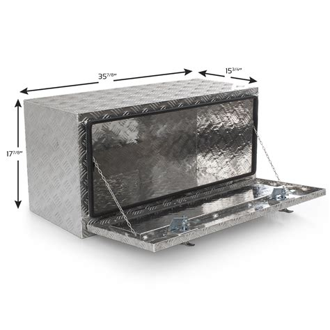 truck bed storage boxes 36 quot aluminum truck under body tool box trailer rv tool storage box under bed ebay