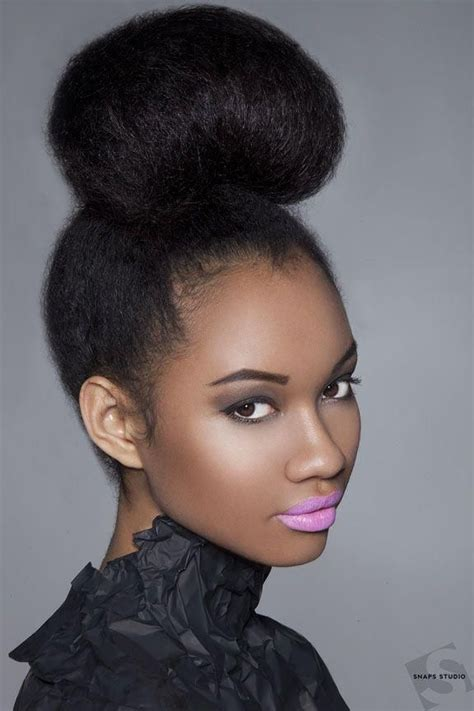 natural hairstyles for high forhead black hair best 25 natural bun hairstyles ideas on pinterest