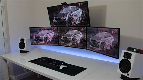 Gaming Desk Pc Best Pc Gaming Desk Setup With My Ultimate Gaming Desk Setup Tour Furniture Ideas