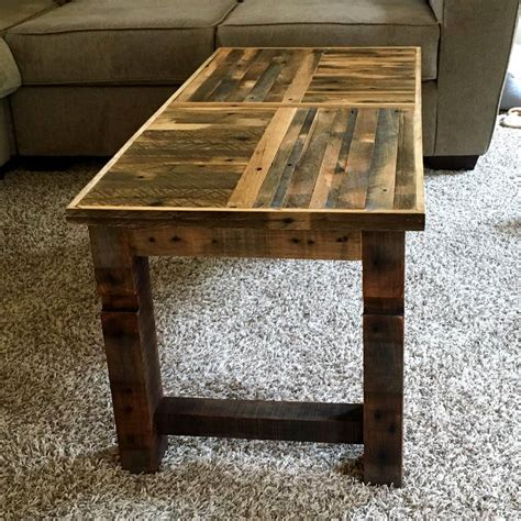 Coffee Tables From Pallets Pallet Coffee Table With Patterned Top