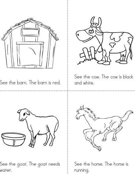 printable animal activity book 1000 images about farm animals preschool on pinterest